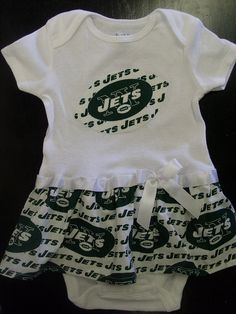 New York Jets Inspired Baby Dress by SportyBabes on Etsy, $27.99