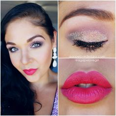 Get The Look | Soft Pink Glitter EOTD