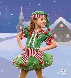 Dancing Elf #dance #ballet #costumes #dressup #child #kids #clothing #couture #teaparty #fairtytale #princess #elf