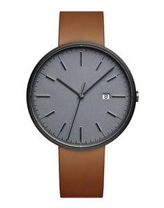 Uniform Wares Wrist Watch In Grey Uniform Wares, Watch Case, Quartz, Clock, Mens Fashion, Watches, Grey, Leather, Clocks