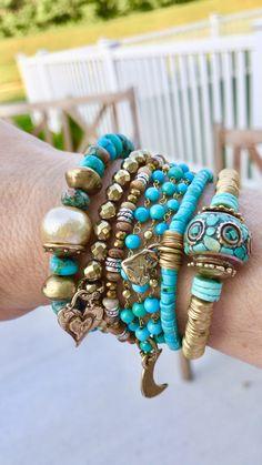 Tribal Jewelry, Boho Jewelry, Gemstone Jewelry, Beaded Jewelry, Fashion Bracelets, Jewelry Bracelets, Fashion Jewelry, Handmade Jewelry Designs, Custom Jewelry