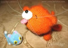 this project by Galinkagr Kitten Amigurumi Cat Made using Pisklya and Buka crochet pattern by Pertseva for LittleOwlsHut #LittleOwlsHut, #Amigurumi, #CrochetPattern, #Pertseva