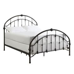 INSPIRE Q Lacey Round Curved Double Top Arches Victorian King-size Antique Dark Bronze Iron Metal Bed | Overstock $609