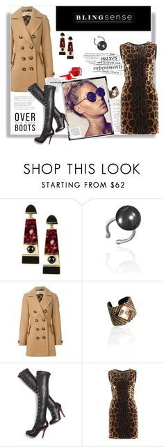 """""""Over Boots + Coat"""" by railda-pereira ❤ liked on Polyvore featuring Égotique, Burberry, Christian Louboutin, Dolce&Gabbana, Kate Spade, Boots, jewelry and blingsense"""