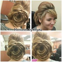 Updo by Krysta Madden. Facebook.com/MemoriesbyKrysta Wedding Up Do, Bridal Hairstyles, Everyday Hairstyles, Updos, Hairdresser, Hair And Nails, Salons, Dreadlocks, Facebook