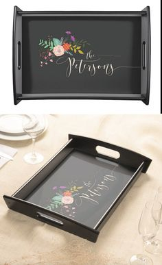Personalized Serving Tray, Custom Wood Tray - Unique Gift for Couple, Gift for Newlyweds, Housewarming Gift