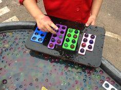 Numicon & aqua beads on rockmyclassroom.com