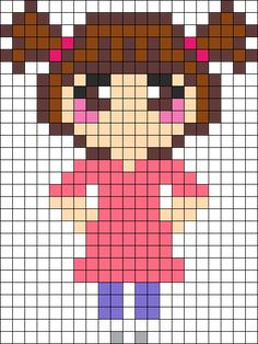 Boo from Monsters Inc perler bead pattern