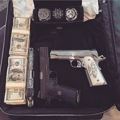 Packed for Art Basel, say what you will about my shitty clothes, my accessories are fashionable Mafia, Mexican Drug Lord, Dan Bilzerian, Armas Ninja, Drug Cartel, Weapons Guns, Airsoft, Hand Guns, Drugs