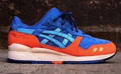 "Ronnie Fieg x ASICS Gel Lyte III ""ECP"" (Blue/Orange)"