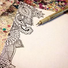 Tiny details. And my favorite Micron pen is running out :(  via  Jenndalyn Art