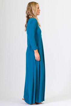 Long Sleeve Maxi Dress - Jade - Paper Scissors Frock