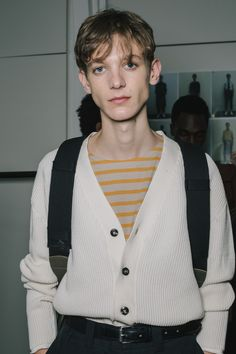 Boys and Bucket Hats Backstage at Margaret Howell -