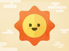 Happy Sun designed by Frank Rodriguez for Purple, Rock, Scissors. Connect with them on Dribbble; Halloween Illustration, Sun Illustration, Flat Design Illustration, Book Illustrations, Frank Rodriguez, Sun Drawing, Logo Face, Simple Character, Sun Logo