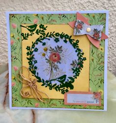 This card was made using the new Freshly Cut Flowers Ultimate Die Cut pack from docrafts