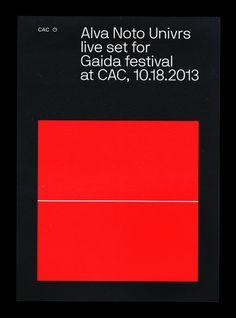 studiocryo: Poster  For Gaida event Alva Noto: Univers ...