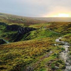 Sunset over the Trotternish ridge on the Isle of Skye