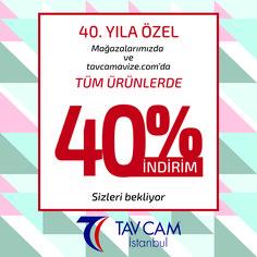 40. Yıla Özel Mağazalarımızda ve tavcamavize.com 'da tüm ürünlerde %40 İndirim. #tavcam #tavcamavize #avize  #aydınlatma #dekarasyon #indirim