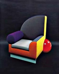 Postmodernism   This chair was created by the Memphis group