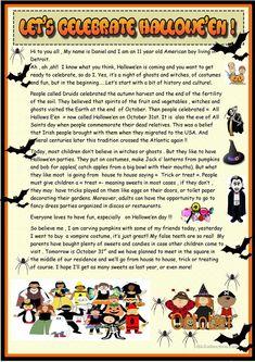 Let's celebrate Hallowe'en : 2 page reading