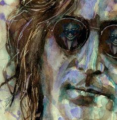 John Lennon  Painting - Double Fantasy by Paul Lovering