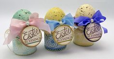 Easter Eggs using Classic Scallop Borders One and Spring Words designed by Barb Schram