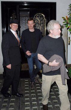 Michael Fassbender with director Ridley Scott