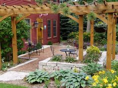 Front Yard Patio & Entry Pergola on Salt Box Home by Switzer's Nursery & Landscaping, via Flickr