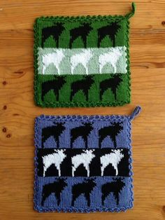 Drops Design, Double Knitting, Fiber Art, Pot Holders, Cloths, Knit Crochet, Coasters, Household, Kitchen
