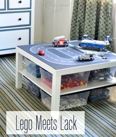 Organized Lego using an Ikea Lack Table...awesome via @Centsational Blog Blog Girl@Brian Jennifer-Servant look at this...