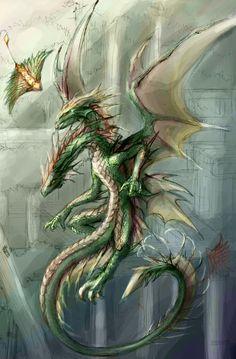 °2 Headed Dragon by rosedragoness