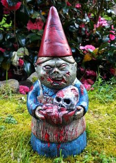 Awesome garden gnome; I could have a Zombie Garden Gnome couple!