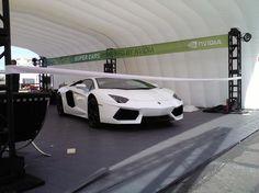 Quite the super car - Lamborghini Aventador @ CES 2012