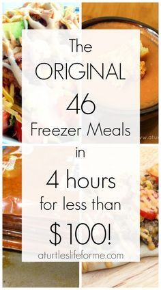 The original freezer meal plan on a budget! SO many great tips and techniques! - The original freezer meal plan on a budget! SO many great tips and techniques! Budget Freezer Meals, Make Ahead Freezer Meals, Crock Pot Freezer, Dump Meals, Frugal Meals, Easy Meals, Inexpensive Meals, Crockpot Meals, Freezer Recipes