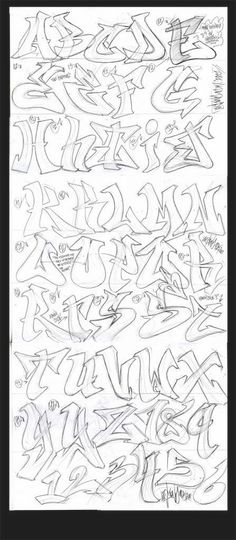 Graffiti Lettering Alphabet, Graffiti Alphabet Styles, Tattoo Fonts Alphabet, Tattoo Lettering Fonts, Graffiti Styles, Grafitti Letters, Typography, Graffiti Words, Graffiti Designs