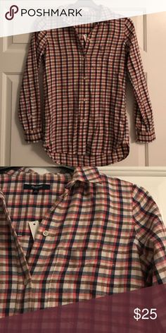 cotton flannel • madewell A longer, leaner, ready-to-layer version of our favorite tomboy button-down shirt. An easy shape in supersoft plaid flannel. Madewell Tops Button Down Shirts