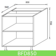 Base Unit 850 mm (Full Height Door)