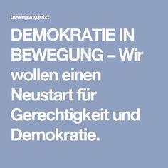 DEMOKRATIE IN BEWEGUNG – Wir wollen einen Neustart für Gerechtigkeit und Demokratie.