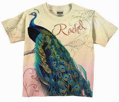 Girls Peacock TShirt Personalized Shirt by SimplySublimeBaby, $24.95