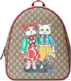 Shop the Children's GG kitten friends backpack by Gucci. Fry Boots, Gucci Store, Guccio Gucci, Gucci Kids, Next Fashion, Kids Fashion, Lipstick Collection, Brown Canvas, Canvas Backpack