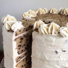 Chocolate chip cookie birthday cake // The Buttercream Blonde