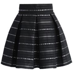 Chicwish Line of Beauty Pleated Mini Skirt ($39) ❤ liked on Polyvore featuring skirts, mini skirts, bottoms, black, mini skirt, striped skirt, pleated skirt, black striped skirt and short skirts