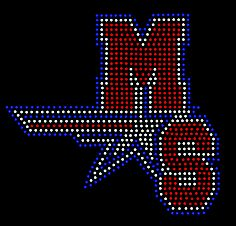 Millard South Patriots Rhinestone design at www.dazzlingdivas.net