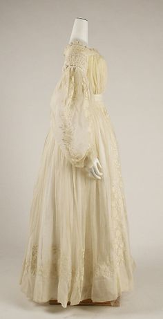 1837 ___ Wedding Dress ___ Cotton ___ French ___ (has TWO sets of sleeves) ___ at The Metropolitan Museum of Art ___ photo 2