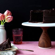 Custom engraved cake stand made out of walnut wood