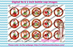 1' Bottle caps (4x6) Digital christmas Elves C2294   PLEASE VISIT http://craftinheavenboutique.com/AND USE COUPON CODE thankyou25 FOR 25% OFF YOUR FIRST ORDER OVER $10! #bottlecap #BCI #shrinkydinkimages #bowcenters #hairbows #bowmaking #ironon #printables #printyourself #digitaltransfer #doityourself #transfer #ribbongraphics #ribbon #shirtprint #tshirt #digitalart #diy #digital #graphicdesign please purchase via link http://craftinheavenboutique.com