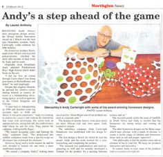 Featured in the Local Paper in the Northern Suburbs of Kwazulu Natal, South Africa.    A step ahead of the game with Award Winning Design.