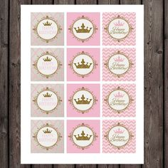 princess cupcake toppers princess party by AmysSimpleDesigns
