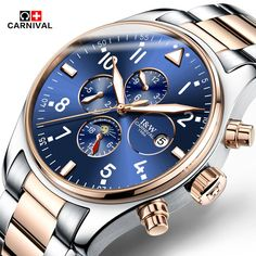86.99$  Watch more here - http://ai7yc.worlditems.win/all/product.php?id=32765851030 - Hot 2016 Carnival Luxury Brand Sport Men Automatic Skeleton Watch Mechanical Military Watch Men full Steel Stainless Band reloje