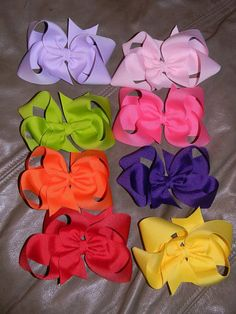 Lot of 8 Boutique Hair bows Great starter set  5 by HairbowsNMore, $34.00